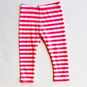 Other - Bright Pink Striped Leggings
